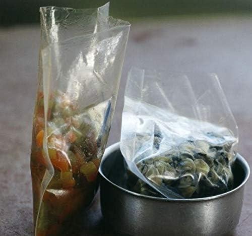 100 Sac plastique transparent cellophane 400 x 600 mm 50 microns Compatible alimentaire emballage en sachet poche de rangement sacs cellophanes transparents ouvert sachets plastiques rangement