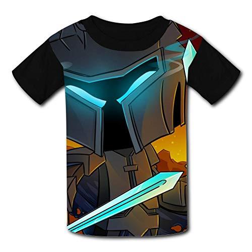 Custom Kids Popular-Mmos Game Tee Shirt T-Shirt for Children Boys Girls M Black ()