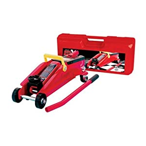 Torin Big Red Hydraulic Trolley Floor Jack with Carrying Case, 2 Ton Capacity
