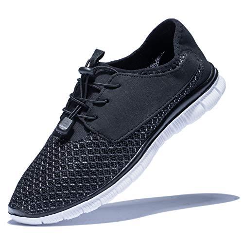 KENSBUY Men's Walking Sneakers Lightweight Mesh Lace Up Shoes(Black EU41) by KENSBUY (Image #8)