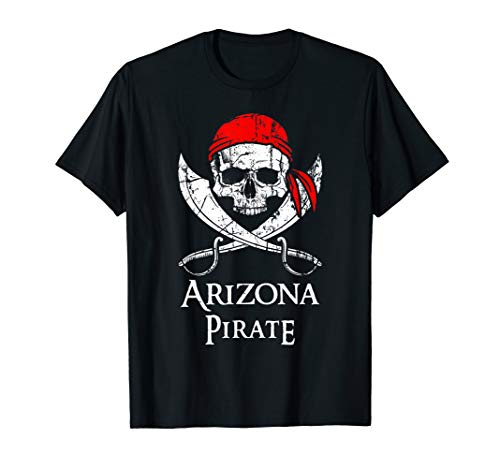 Arizona Pirate Jolly Roger State Pride T-Shirt
