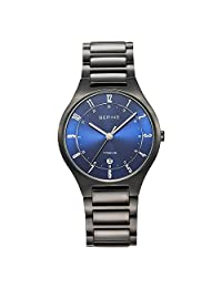 BERING Time Men's Full Titanium Collection Watch with Titan Link Band and scratch resistant sapphire crystal. Designed in Denmark. 11739-727 by Bering