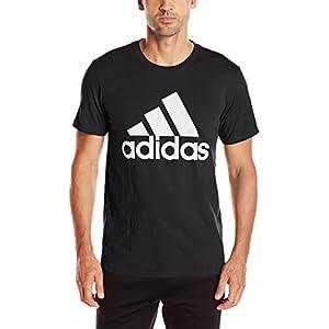 adidas Men's Badge of Sport Graphic Tee, Black/White, Large