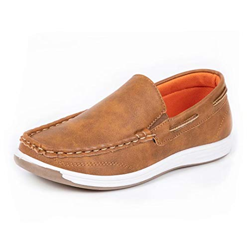 CHERRY POPO Boys Loafers Kids Casual Boat Shoes School Comfortable
