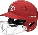 Rawlings Sporting Goods Highlighter Series Softball Helmet, Matte Scarlet