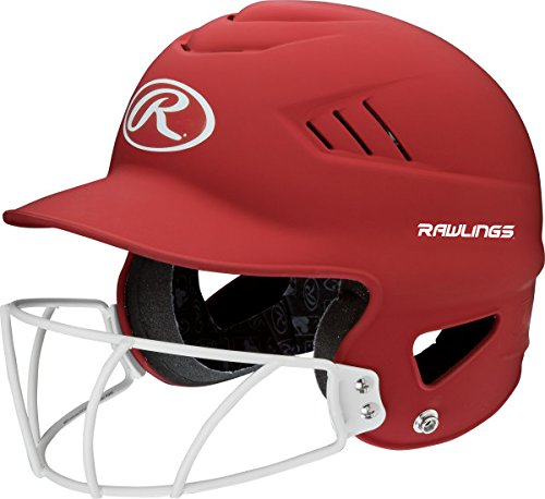 Rawlings Sporting Goods Highlighter Series Softball Helmet, Matte Scarlet