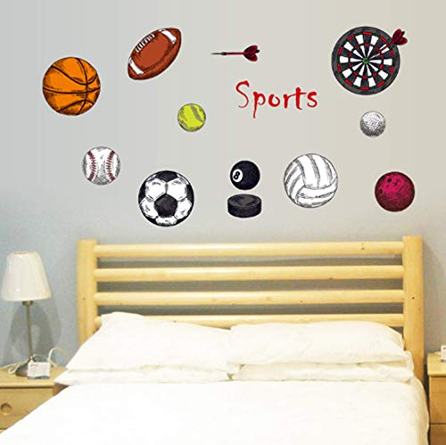 Stickers Basketball Volleyball Football Removable product image