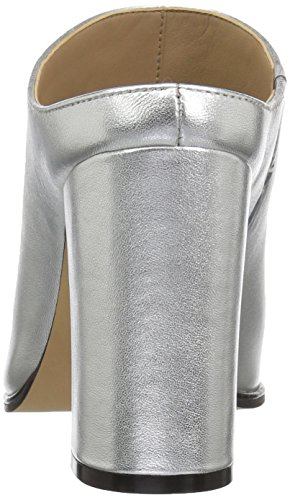 The Metallic Fix Donna Toe Mule Heel Silver Open Women's High arvTwxzaq
