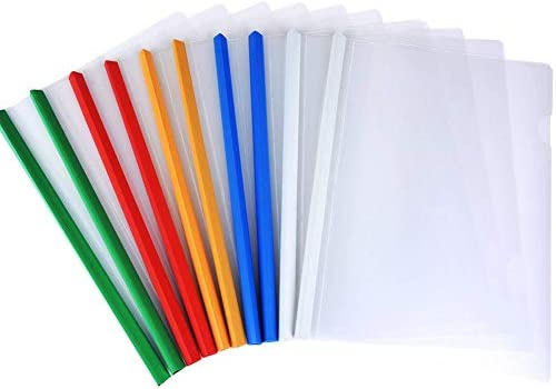 lyivssuy 12pack Clear Report Covers 10mm Sliding Bar File Folder Report Covers