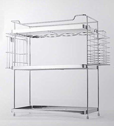 GRJH® 棚板、金属3層多機能タレット箸箱味付け箱収納ラック3品セット35cm 防水性と耐久性