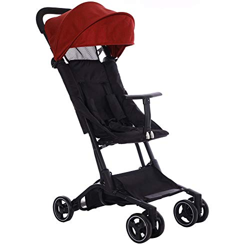 $252.00 Target Infant Car Seats Portable Folding Baby Stroller- b-Type strollerfoldable Travel Friendly Suitable for Overhead car Reclining seat Awning Five-Point seat Belt 2019