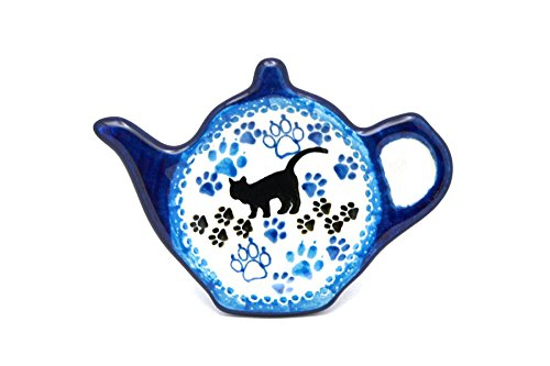 Boo Boo Kitty Polish Pottery Tea Bag Holder