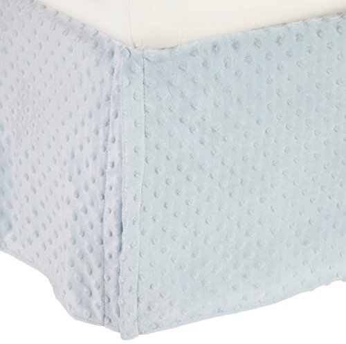 TL Care Heavenly Soft Minky Dot Tailored Crib Skirt, Blue by TL Care