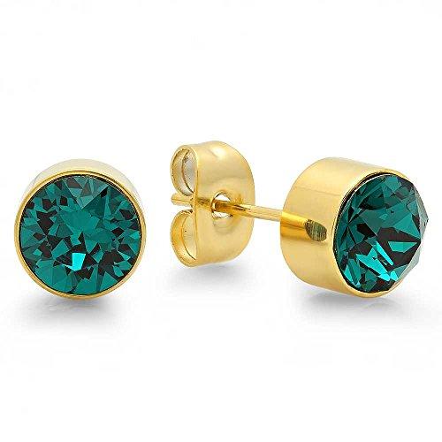 7mm May Birthstone Earrings - 4