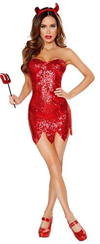 Red Devil Dress - Women's Devil Costume Dress (Small)