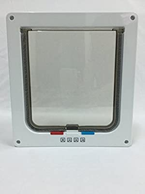 Pet Doors for Cats and Small Dogs,cat flap, for windows, 4 Ways Locking (Large size 9.2 x 2.2 x 10 inch),Telescopic Frame, replacement flap, pet safe, weatherproof, easy installing, exterior door