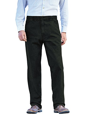 Vita Denim Uomo Pantaloni Black Jeans Elastico Chums Cordino In wg1xp4Aq