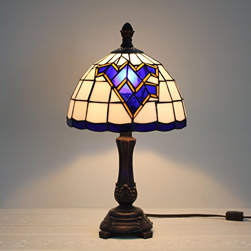 (9-inch West Virginia Mountaineers Stained Glass Table Lamp)