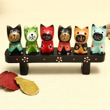 Terrific Buy Bench Set Kitten Nordic Wooden Birthday Gift Hand Inzonedesignstudio Interior Chair Design Inzonedesignstudiocom