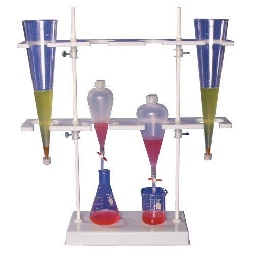(Bel-Art Polyethylene Imhoff Cone and Separatory Funnel Rack; 8.5 x 26 x 29 in. (H18967-0000))