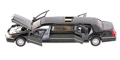 1999 Lincoln Town Car Stretch Limousine limo Taxi 1:38 Scale diecast model Black