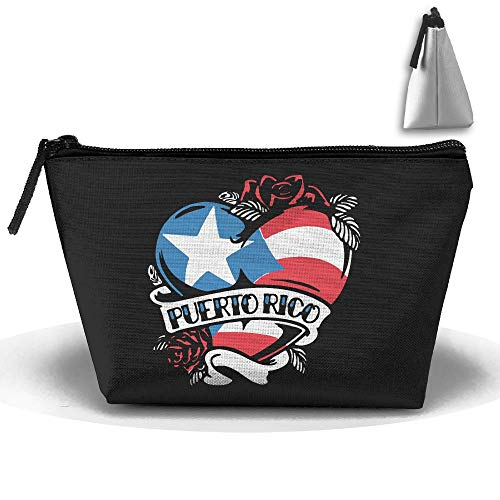 Puerto Rico Kitchen - Louise Morrison Puerto Rico Tattoo Heart Flag Pen Stationery Pencil Case Cosmetic Makeup Bag Pouch
