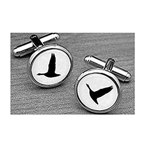Mallard Duck Cufflinks, Flying animal cufflinks, hunting cufflinks, men's cufflinks,