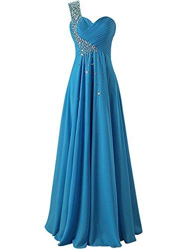 damigella Chiffon da Una Lungo d'onore Abiti Donne spalla promenade JAEDEN Blu vestito Del qXUtwfHx