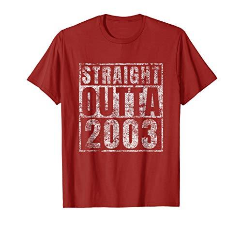 Straight Outta 2003 Sweet 16 Birthday Gift Idea Tshirt 16th