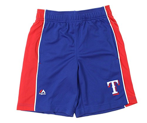 MLB Texas Rangers Big Boys Youth Baseball Classic Shorts, Blue (Small (8))