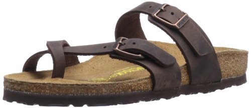 Extra Wide Leather Sandals - Birkenstock Women's Mayari Sandal,Habana Leather,40 EU/9-9.5 M US