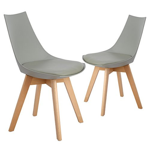 Modern Contemporary Urban Design Kitchen Dining Side Chair: ELERANBE Set Of 2 Eames Style Modern Upholstered Kitchen