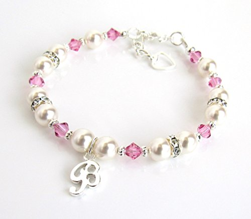 Personalized Girls Bracelets, Birthstone Bracelet for Girls CHOOSE COLOR/CHARM/SIZE Personalized Gifts for Girls