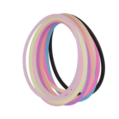 MagiDeal Elastic Silicone Bracelet Bangles