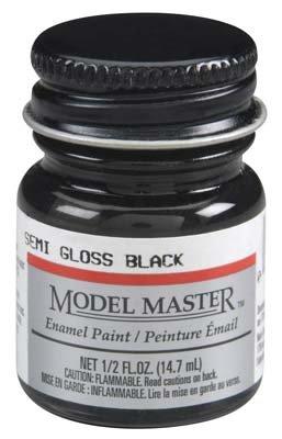 (Testor Corp. MM Car 1/2oz Semi Gloss Black)