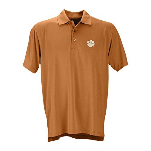 Elite Fan Shop Clemson Tigers Performance Polo Orange - L
