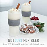 Host Freeze Beer Glasses, 16 ounce Freezer Gel