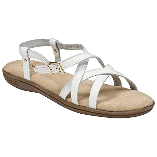 Bass Women's Margie Sandals,White Action Leather,10 N US