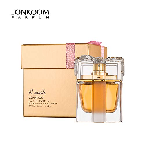 LONKOOM Perfume EDP for Women Eau De Parfum Sweet-Fruity Fragrance For Women Antibacterial Spray A WISH GOLD 100ml