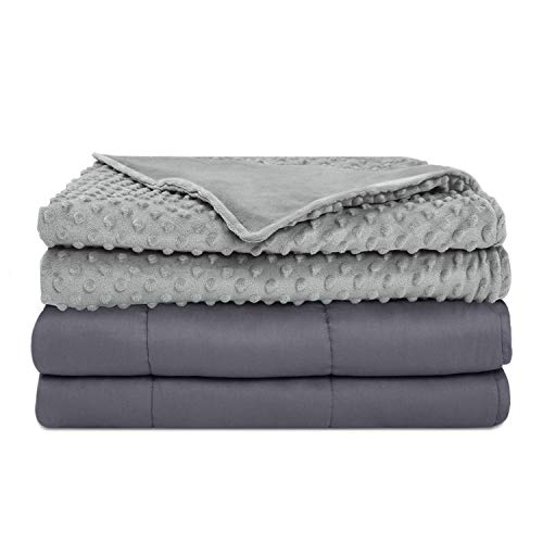 Cheap JOYPEA Weighted Blanket & Removable Duvet Cover 20 lbs 60