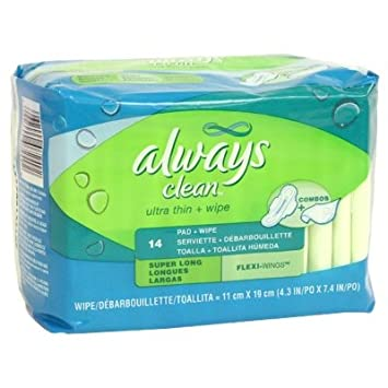 Always Always Ultra Thin Super Long w/ Wings & Wipe- 14: 10 units
