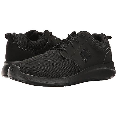 DC Midway SN, Chaussures de Skateboard Pour Homme Multicolore Noir/Gris - Noir - Noir,
