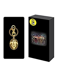 Suicide Squad The Joker Golden Oval Pewter Keychain SDCC 2016