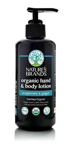 Herbal Choice Mari Organic Hand & Body Lotion, Peppermint & Ginger; 6.8floz