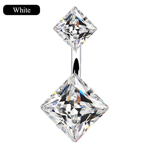 - Vintage Blue White Black Color Crystal Geometric Belly Button Rings For Women Umbilical Nails Navel Piercing Jewelry M32264