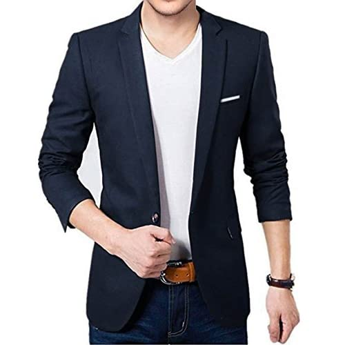 41eUK0FMlGL. SS500  - BELARIO Men Fashion Mens Navy Blue Casual Blazer (36)