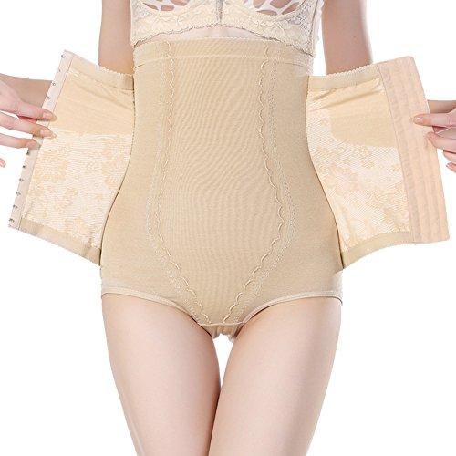 Tiaobug figurformender Bodyshaper Miederhose Damen Shapewear Hoher Taille Bauchweg Effekt Taillenslip (M, Nackt)