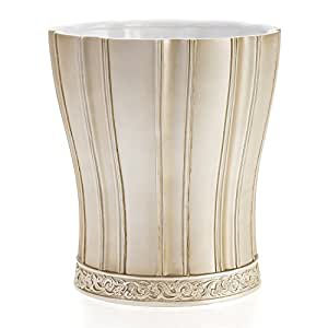 Creative scents victoria bathroom trash can 8 5 x 8 5 x decorative - Elegant wastebasket ...