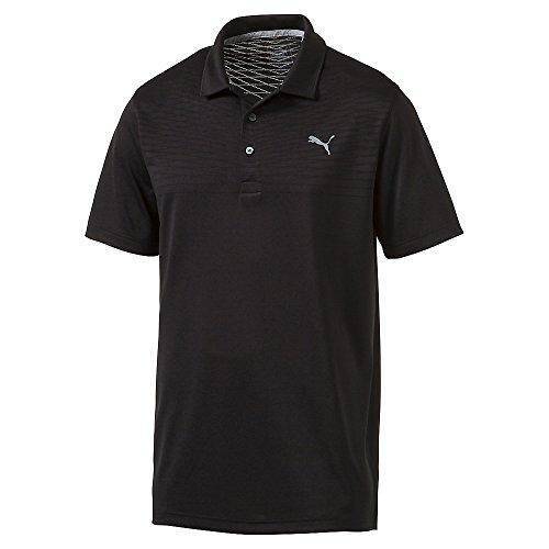 (PUMA Body Map Jacquard Golf Polo 2017 Puma Black Medium)