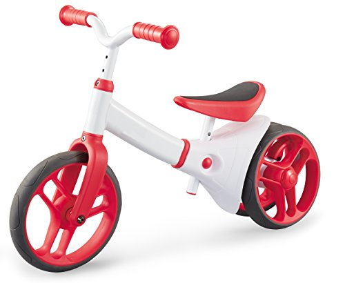 HK-Bikes Haktoys 2 in-1 Red No-Pedal Balance Bike-N-Tricycle Learn to Ride | for Toddlers and Kids Ages 2+ | Adjustable Seat and Handlebars | Self-Balance Perfect for Training